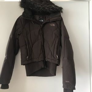 The North Face Down Winter Jacket With Fur Hood
